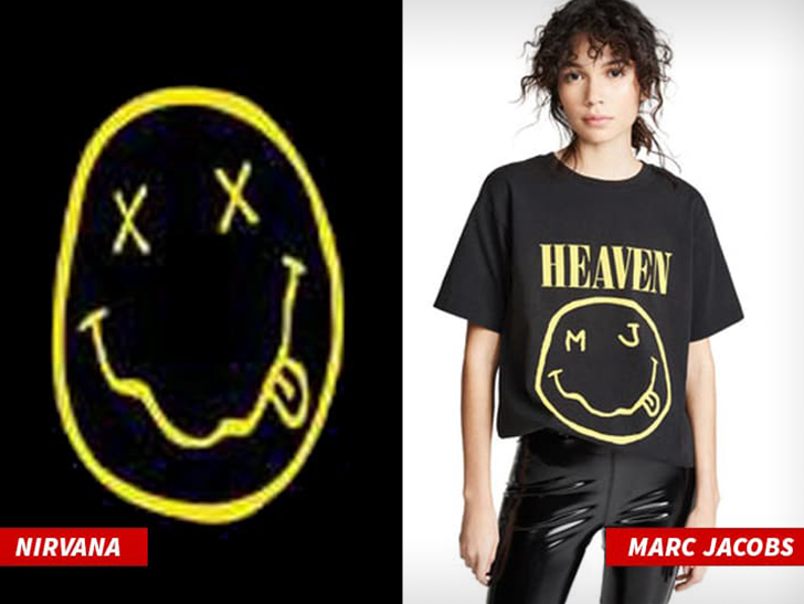 Nirvana's famous smiley face design was stolen by famous clothing brand Marc Jacobs, so says the band in a new lawsuit.