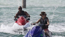 Katie Holmes & Jamie Foxx Jet Ski Together in Miami For Holiday Getaway