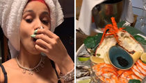 Cardi B Delights in Seafood and Fruit Platter While Performing for NYE in Australia