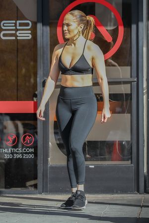 JLO & A-Rod Hit The Gym After New Years