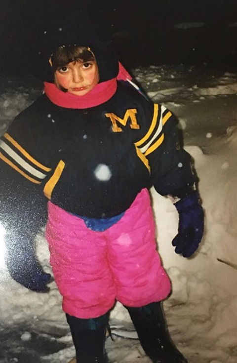 Before this cozy cutie was a child actress and dancer, she was just another little lady staying warm in Toledo, Ohio!