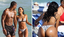 Karrueche Tran and Victor Cruz, Muscles and Butt Cheeks!
