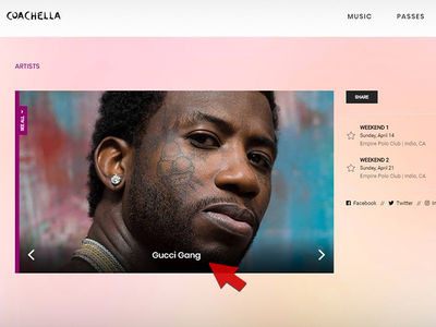 Gucci Mane's Alleged Typo in Coachella Adjusted to Include Lil Pump and Smokepurpp