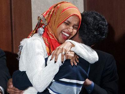Congresswoman Ilhan Omar Makes History Wearing Hijab During Swear-In