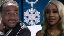 Quavo Drops $75,000 on Diamond Snowflake Bling For Rapper Girlfriend Saweetie