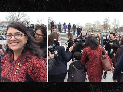 Rashida Tlaib, First Palestinian-American Congresswoman, Swarmed on Capitol Hill