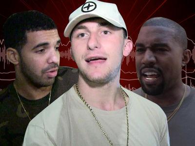 Johnny Manziel Thinks Kanye West Is Afraid of Drake