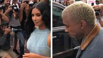 Kim Kardashian and Kanye West Go Shopping in Miami, Throng of Cameras Follow
