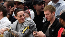 Pete Davidson and Machine Gun Kelly Chill at Denver Nuggets Game