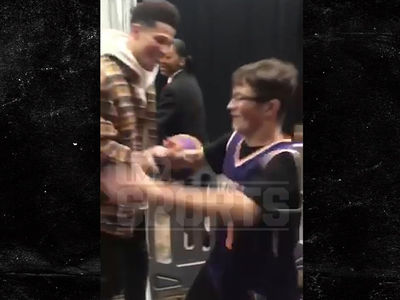 Devin Booker Meets Kid With Autism for His First Suns Game Ever