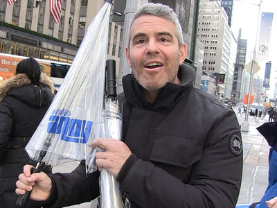 Andy Cohen Gets Personalized Umbrellas After New Year's Eve Rant
