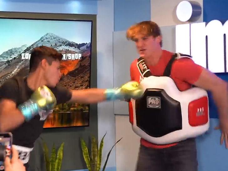 Logan Paul Used As Ryan Garcia's Human Punching Bag, 'F*** Me Up!'