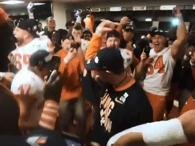 Dabo Swinney 'Shoot' Dances in Wild Clemson Locker Room Celebration