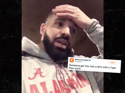 Clemson Shades Drake After Stomping Alabama