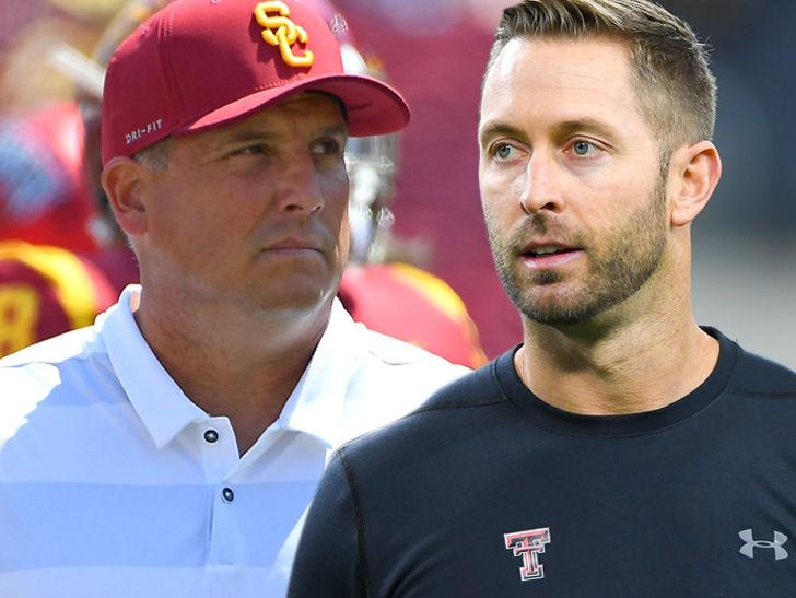 USC's Clay Helton Praises Kliff Kingsbury, 'I'm Happy for Him'