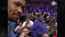 Floyd Mayweather and Manny Pacquiao Face Off at Clippers Game
