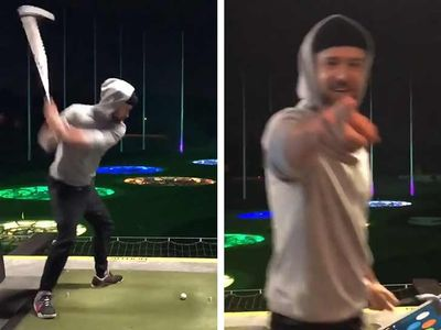 Justin Timberlake Breaks Topgolf Rules With 'Happy Gilmore' Swing, Gets Funny Warning