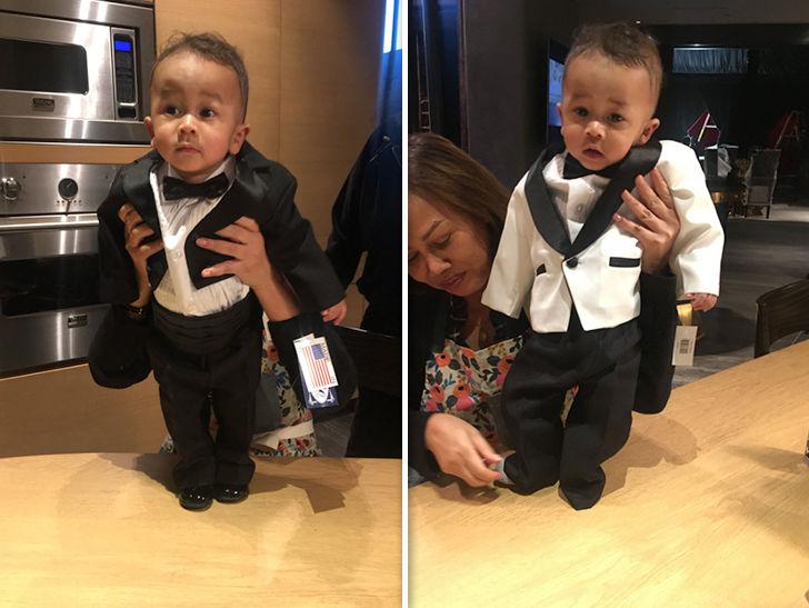 Chrissy Teigen Presents 2 Tux Options to Turn Son Miles Into Mini John Legend