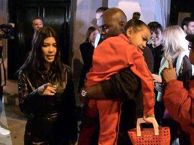 North West Dines at Fancy Restaurant with Aunt Kourtney Kardashian
