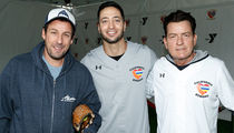 Adam Sandler, Jamie Foxx Come Through Strong at Charity Softball Game for CA Victims