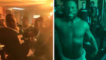 Mark Ingram Celebrates Saints' Win in Nothing But Towel at Postgame Dance Party