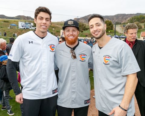 Christian Yelich, Justin Turner and Ryan Braun