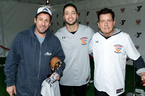 Adam Sandler, Ryan Braun and Charlie Sheen