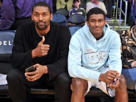 Metta World Peace and Ron Artest Jr.