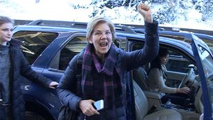Sen. Elizabeth Warren Rubs Patriots' Win In Haters' Faces