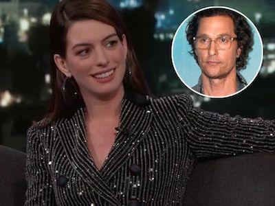 Anne Hathaway CRACKS UP Kimmel with 'VERY GOOD' Matthew McConaughey Impression
