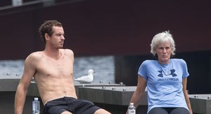 Andy Murray Topless Sunbathing with Mom After Retirement Announcement