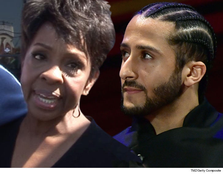 0de9e0a85e3 Gladys Knight is adamant she does NOT have a problem with Colin Kaepernick  and his protest -- but says she s hoping her national anthem performance at  the ...