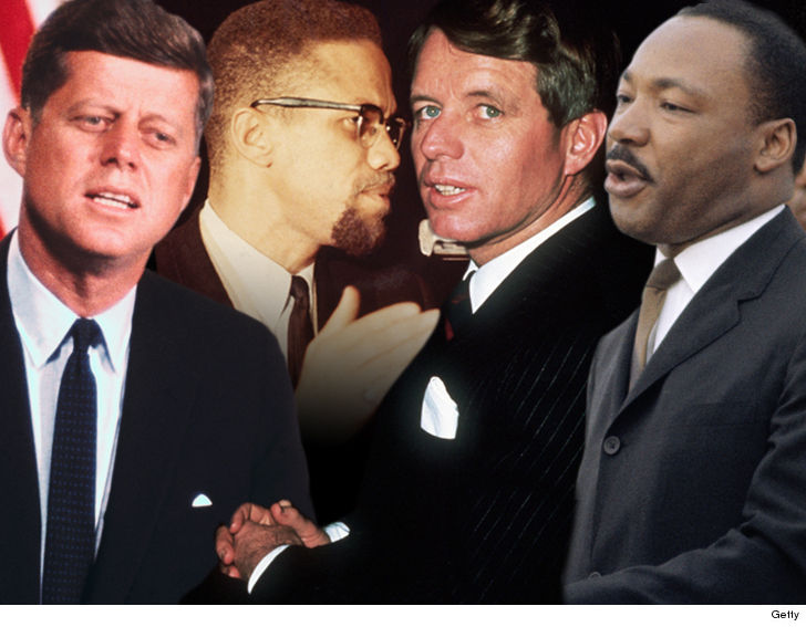 MLK, JFK, RFK, Malcolm X Celebs and Fams of Kennedy, MLK Demand New Probes ... Assassinations Were Conspiracies
