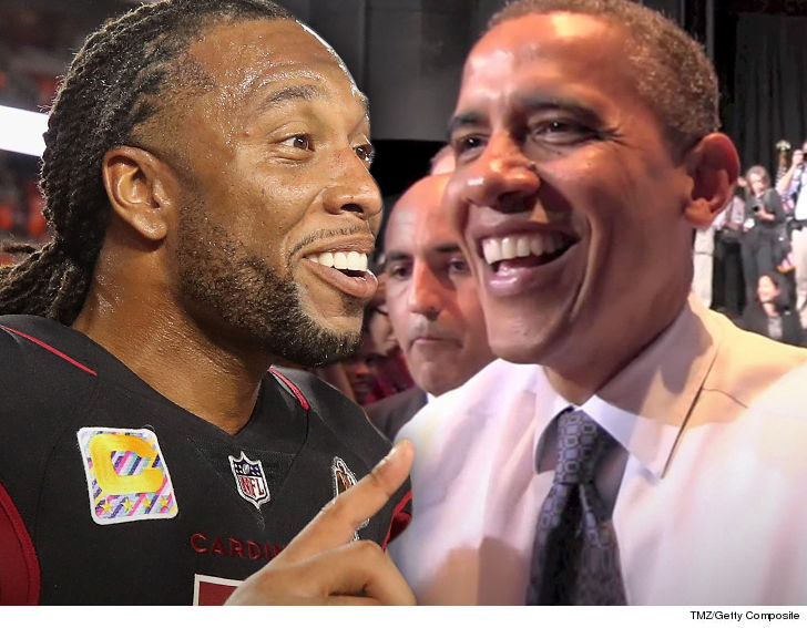 Larry Fitzgerald Sinks Hole-In-One In Round Of Golf With Barack Obama d0dd97c72