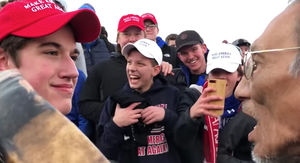 Smirking MAGA Hat Student Responds to Accusations of Harassment
