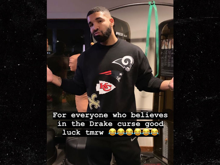 Drake Embraces His Sports Curse, Dooms All 4 Remaining NFL Teams