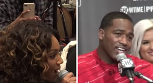 Tiffany Haddish Crashes Adrien Broner's Post-Fight Presser, Hilarity Ensues