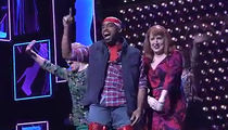 Tiki Barber Slays In Red Thigh Highs In 'Kinky Boots' Debut
