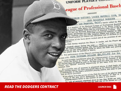 Jackie Robinson's Historic Baseball Contracts Hit Auction Block, Appraised at $36 Mil