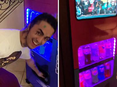 Lil Pump Scores $10k Custom Soda Machine from Exotic Pop