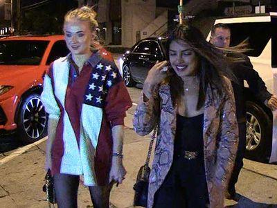 Priyanka Chopra & Sophie Turner Sisters-in-Law's Night Out w/o Jonas Bros.