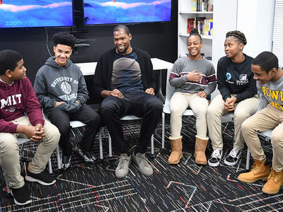 Kevin Durant All Smiles While Opening After-School Facility In Maryland