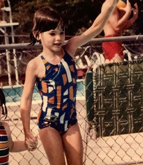 Before this sweet swimmer was diving head first into the film industry, she was just another kid having some fun in the sun in Charleston, West Virginia.