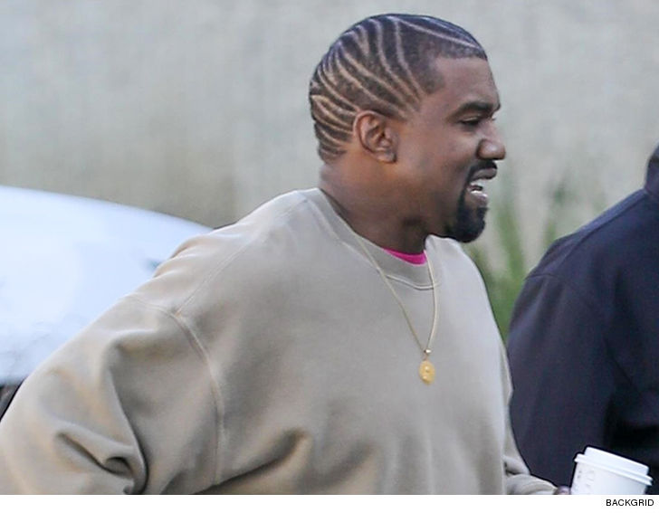 Kanye West Shows Off New Hairstyle Tmz