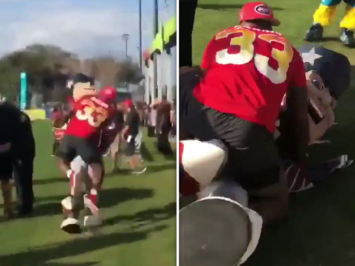 97f83194e0c Patriots Mascot Dealing With Jaw, Neck Injuries From Jamal Adams Tackle