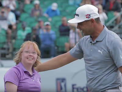 Special Olympics Athlete Invited To Play Hole With PGA Stars, She Pars!!!
