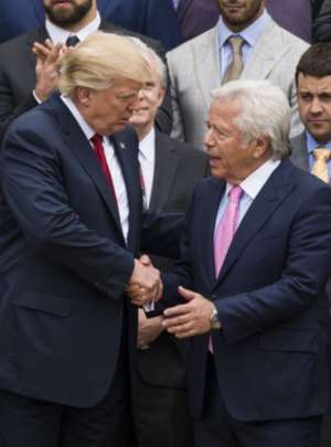 Robert Kraft And Patriots At The White House