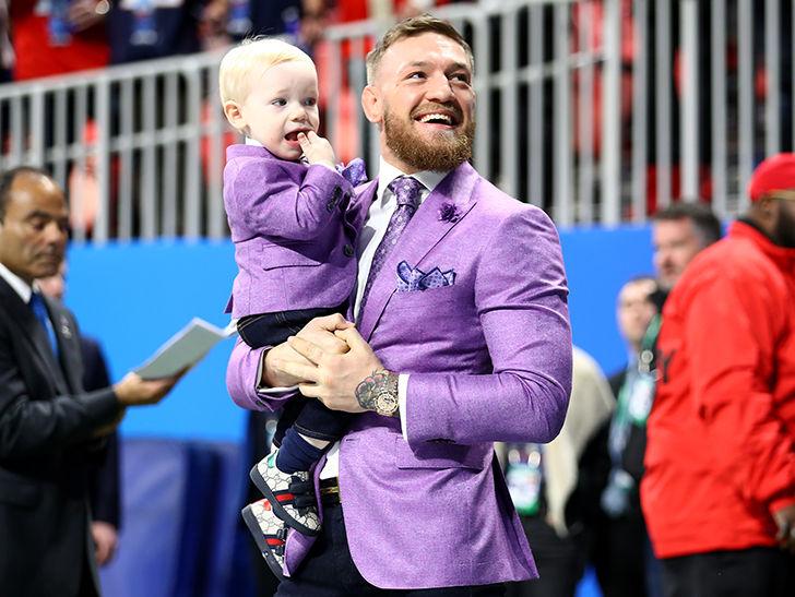 Conor McGregor Brings Conor Jr. to Super Bowl, The Stars Arrive!