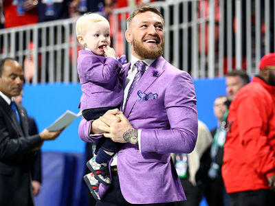 Conor McGregor Brings Conor Jr. to Super Bowl, The Stars Arrive!