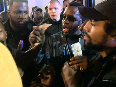 Diddy Hurls Money at Crowd Outside Magic City Strip Club in Atlanta